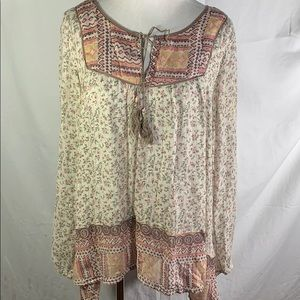 Free People | Floral Boho Tunic Top